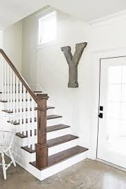 Best Paint For Stair Banisters Best 25 Farmhouse Stairs Ideas On Pinterest Cottage Cottages