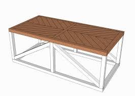 plywood coffee table plans herringbone coffee table buildsomething com