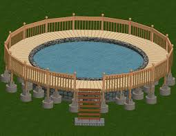 build a deck around an above ground pool ground pools decking