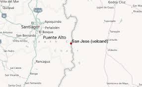 san jose ecuador map san josé volcano mountain information