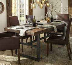 industrial dining room table emmerson industrial expandable brown dining table