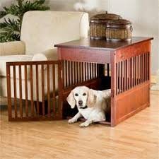 build a pet kennel that doubles as an end table nice be nice
