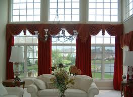 living room contemporary bay windows curtains for living room