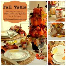 Fall Table Decor Fall Table Featuring Items From The Better Homes U0026 Gardens Line