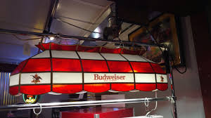 budweiser stained glass pool table light budweiser 40 inch stained glass pool table light kd game room supply