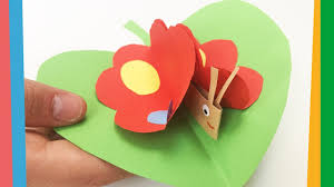 summer diy for kids paper butterfly on a leaf easy to make for