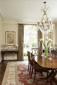 dining room drapes with