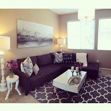 Ideas For Apartment Walls Living Room Design With Wall Decor Charm Mirrors Purple And Silver