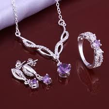 sterling silver necklace set images 1stglobal mobile jpg