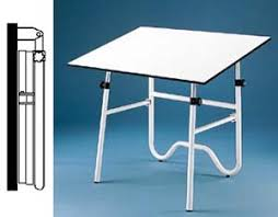 fold away drawing table alvin onyx fold away drafting table