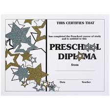 preschool diploma glitter preschool diploma s
