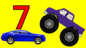 videos monster truck monster trucks teaching children numbers and crushing cars watch