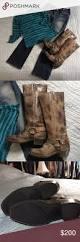 tall biker boots frye distressed leather tall biker boot sz 6 1 2 distressed