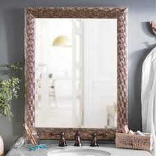 Kirklands Bathroom Mirrors by Silver Peacock Framed Mirror 28x34 In Kirklands