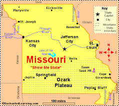 missouri map by population missouri facts map and state symbols enchantedlearning