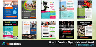 how to create a flyer in microsoft word fit templates