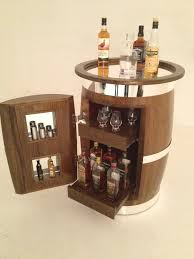 Whiskey Barrel Kitchen Table A Whiskey Cabinet Made From The Barrels Of Old Bushmills Whiskey