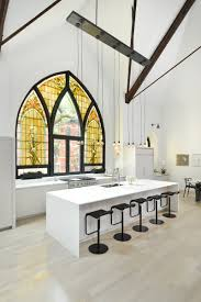 modern family kitchen church transformed into modern family house in chicago icreatived