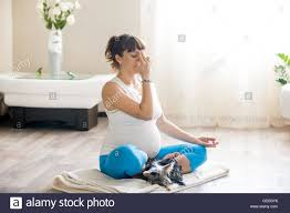 Livingroom Yoga by Healthy Lifestyle Concept Pregnancy Yoga And Fitness Young