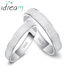 wedding ring set for brushed center polished edges promise rings set for women