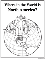 north america theme unit printables and worksheets