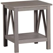 Livingroom End Tables Linon Titian End Table Rustic Gray Walmart Com