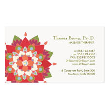 Massage Therapy Business Cards Create Your Own Therapist Business Cards
