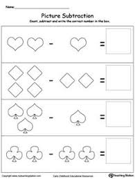 beginning subtraction using pictures preschool math pictures