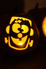 decoration fascinating picture of kid simple frankenstein pumpkin