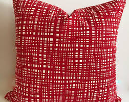 Red Decorative Pillow Red Pillow Etsy