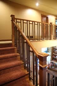 wood stair railing design custom metal and staircase modern wooden