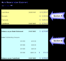 monthly bank reconciliation statement format manager u0027s club