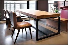 wood and wrought iron table and iron table solid wood dining table rectangular wood dining