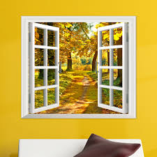 online buy wholesale wall mural window from china wall mural 3d window forest birch tree view wall stickers wall mural decals wall stickers home decor bedroom