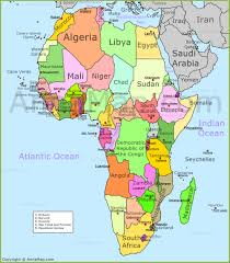 Africa Map by Africa Map Political Map Of Africa With Countries Annamap Com