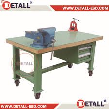 industrial work bench with bench vice for workshop buy