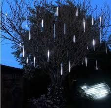 led meteor shower tube lights 50cm smd led meteor shower rain tube light garlands 1 set 8 tubes