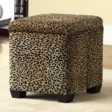Animal Print Storage Ottoman Magnificent Animal Print Storage Ottoman With Zebra Print Ottoman