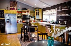 funky kitchen ideas and colorful kitchen makeover