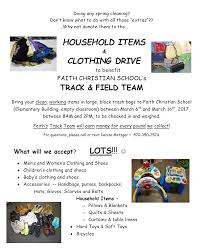 household items u0026 clothing drive 18th final day