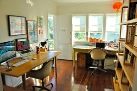 Home Office With Two Desks Great Exles Of Home Offices For Two Apartment Therapy
