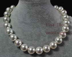 white shell pearl necklace images Large pearl necklace etsy jpg