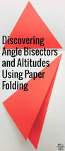 Angle Bisectors Worksheet Altitudes And Angle Bisectors Paper Folding Activity Paper