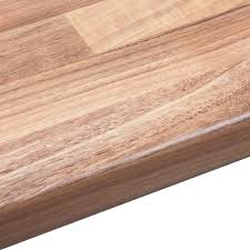 38mm oak wood mix laminate wood effect round edge worktop l