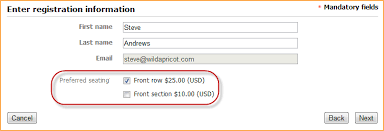 extra event registration costs dynamic event pricing online