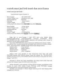 format surat kuasa jual beli rumah contoh surat jual beli tanah dan surat kuasa