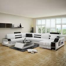 canap cuir noir et blanc salon cuir noir et blanc