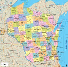 Road Maps Usa by Wisconsin Road Map