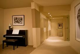 Sound Proof Basement Ceiling by Soundproof Drywall Basement Contemporary With Artwork Basement