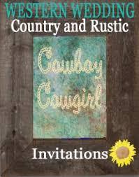 Country Wedding Programs Western Wedding Invitations Country Wedding Invitations Rustic